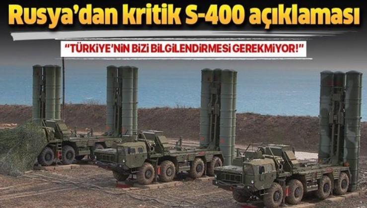 Rusya'dan Türkiye'ye S-400 mesajı.