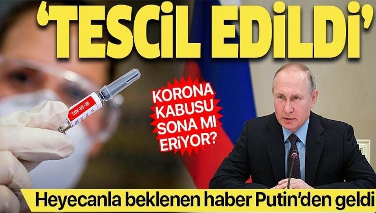 """Son dakika: Putin'den dünyaya müjde: """"Koronavirüs aşısı tescil edildi, kızıma aşı yapıldı"""""""
