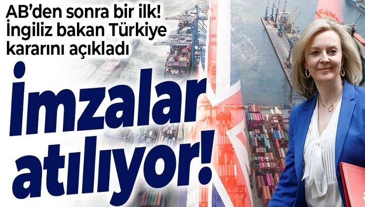 SON DAKİKA: İngiltere resmen duyurdu: Türkiye ile serbest ticaret anlaşması Salı günü imzalanıyor