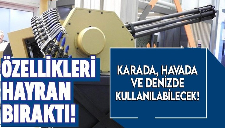 Türkiye'den savunma sanayiide bir hamle daha! Kara, deniz ve havada kullanılabilecek yerli silah müjdesi!
