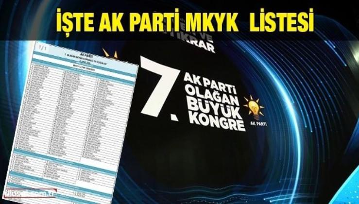 İşte AK Parti MKYK listesi