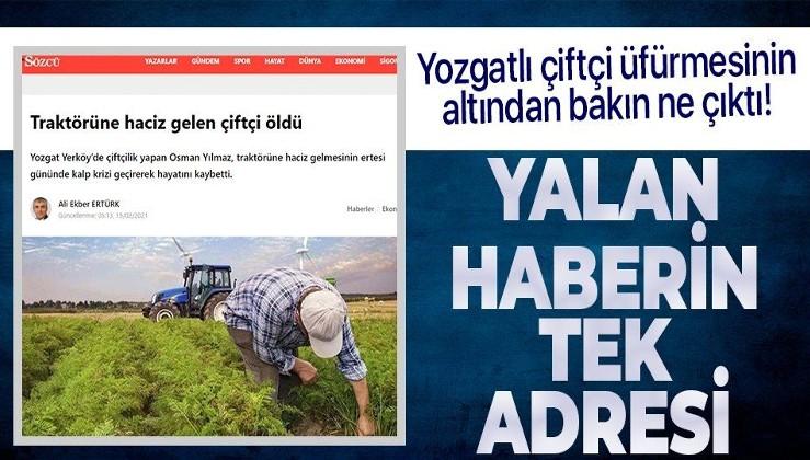 Sözcü gazetesinin Yozgatlı çiftçi yalanının altından bakın ne çıktı!