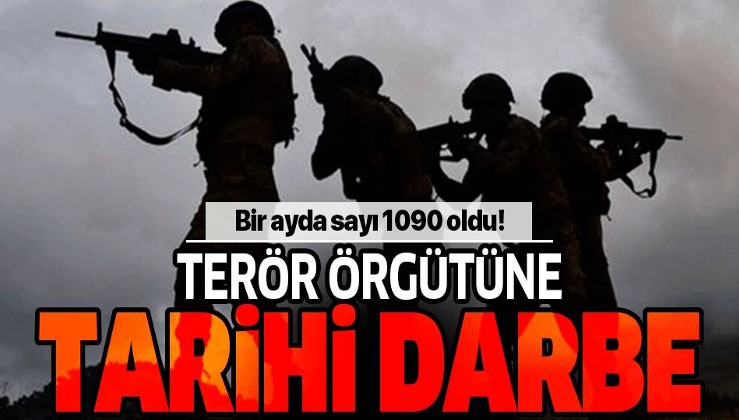 Terör örgütü PKK/YPG'ye ekimde ağır darbe.