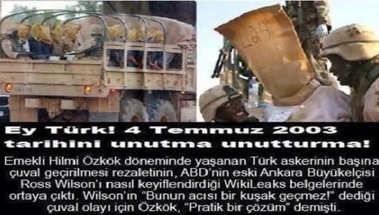 Çuval geçirilen günlerden Pençe,Barış Pınarı, Zeytindalı, Fırat Kalkanına! FETÖ temizlendikçe ABD çuvalını ve BOP haritasını parçalayan Türk ordusu!