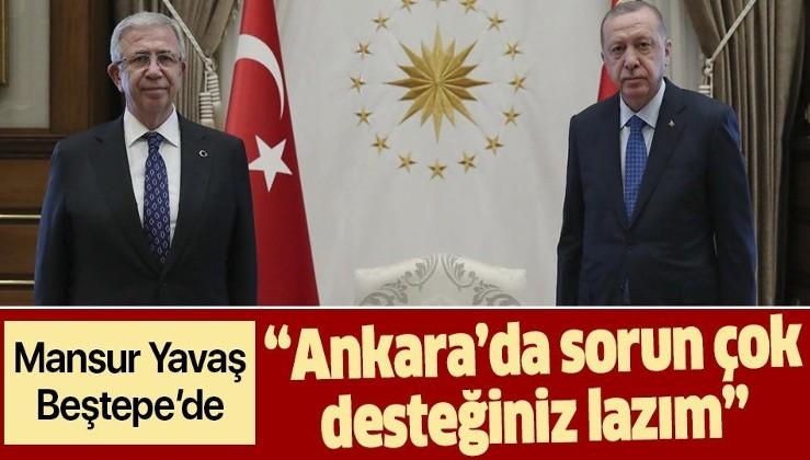 Erdoğan, Ankara Büyükşehir Belediye Başkanı Mansur Yavaş'ı kabul etti! Masada Ankara'nın sorunları var