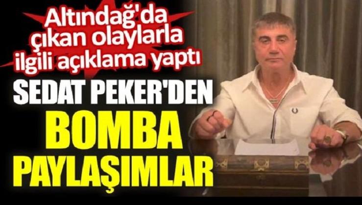 Sedat Peker'den bomba Altındağ açıklamaları