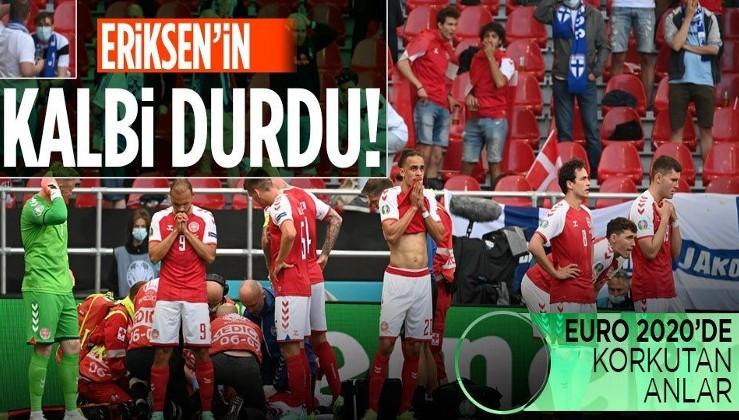 Son dakika: Danimarka-Finlandiya maçında kokutan anlar! Yerde kalan Christian Eriksen'e kalp masajı...