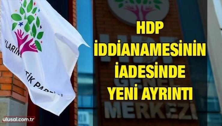 HDP iddianamesinin iadesinde yeni ayrıntı