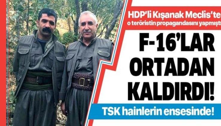 HDP'li Gültan Kışanak'ın Meclis'te mektubunu okuduğu terörist Mazlum Tekdağ öldürüldü!