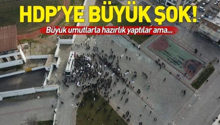HDP'ye şok! Aday tanıtımına katılan olmadı.
