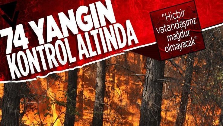 Yangınlarla mücadelede son durum! İyi haberler ve açıklamalar peş peşe geliyor...