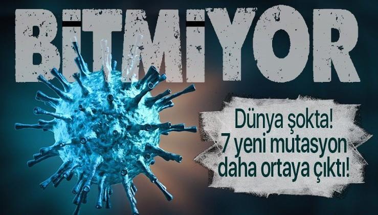 Bitmiyor! Koronavirüsle ilgili şoke eden araştırma! 7 yeni koronavirüs mutasyonu tespit etildi!