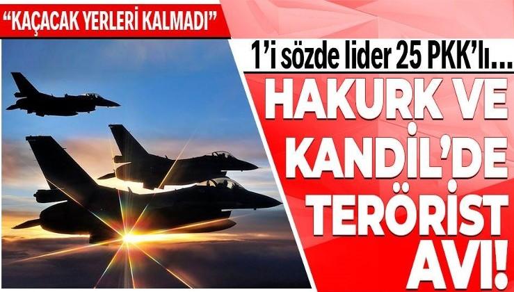Hakurk ve Kandil'de 1'i sözde lider 25 PKK'lı terörist etkisiz hale getirildi