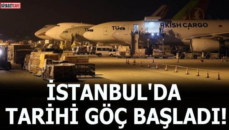 İstanbul'da tarihi göç başladı