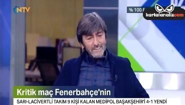 Rıdvan Dilmen: Bugün hakem maçı Başakşehir'den aldı, Fenerbahçe'ye verdi maçı.