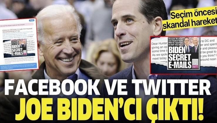 Facebook ve Twitter Joe Biden'cı çıktı! Skandal olaya çanak tuttular