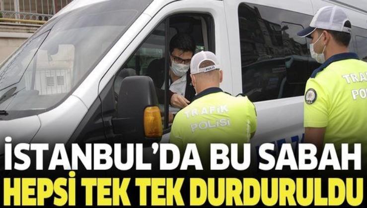 Son dakika: İstanbul'da okul servis araçları denetlendi! Tek tek durduruldular