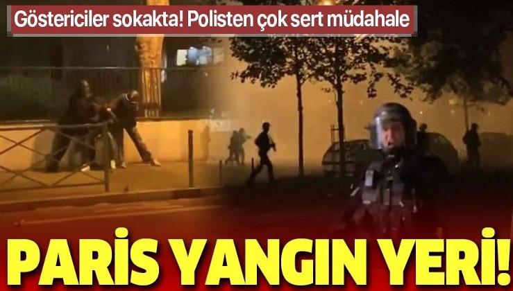 Paris yangın yeri: Polis ekipleri ile protestocular arasında arbede! Koronavirüs yasakları...