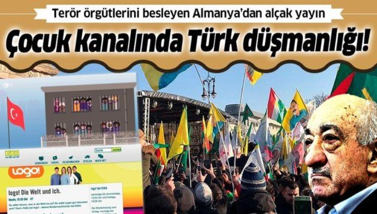 Terör örgütlerine kucak açan Almanya'da Türk düşmanlığı: ZDF'den skandal propaganda!