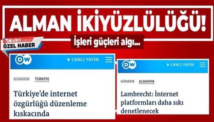 İşte Alman Deutsche Welle'nin ikiyüzlülüğü! Türkiye'de olunca 'özgürlük kısıtlaması' Almanya'da olunca 'denetleme'