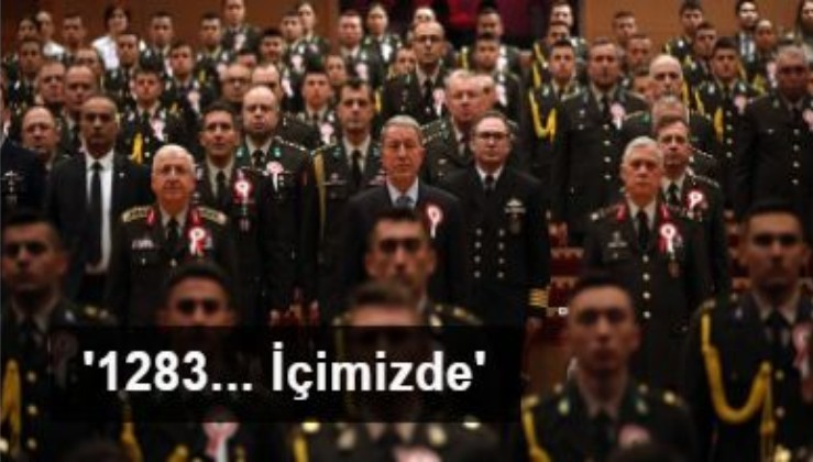 Milli Savunma Bakanı ve komutanlardan Harbiye Marşı