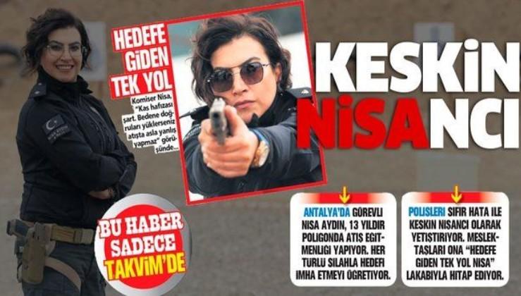 Antalya'da görevli Komiser Nisa Aydın yüzlerce keskin nişancı yetiştirdi
