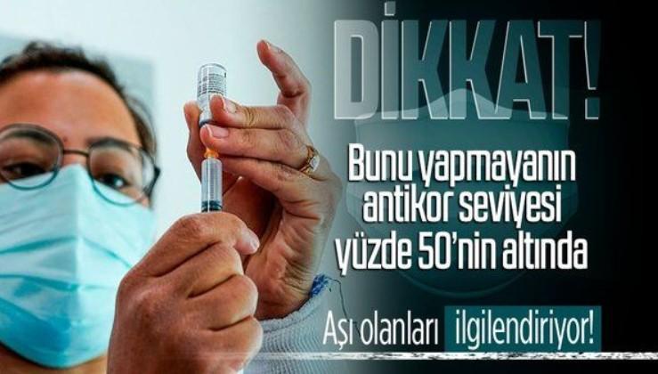 Aşı yaptıranlar dikkat! Eğer bunu yapmazsanız antikor seviyesi yüzde 50'nin altına düşer!