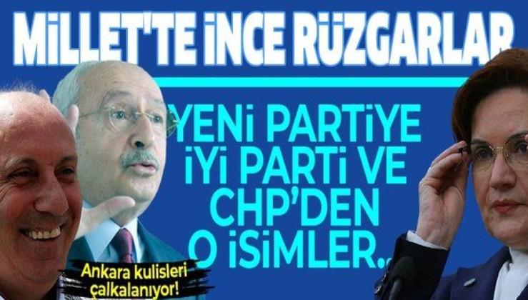DİP DALGASI.. Muharrem İnce'nin partisine katılacak isimler ortaya çıktı! CHP ve İYİ Parti'den...