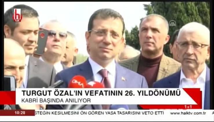 İmamoğlu Özal'ı andı, Menderes'i övdü: HİZMETLERİNİ UNUTMUYORUZ!