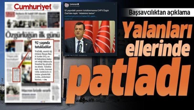 İstanbul Cumhuriyet Başsavcılığından CHP'li vekiller ve Cumhuriyet Gazetesi'ne yalanlama
