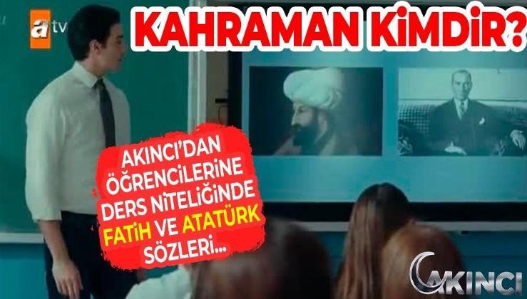 AKINCI'da geceye damga vuran Fatih Sultan Mehmet ve Atatürk sahnesi! İzleyiciden tam not aldı...