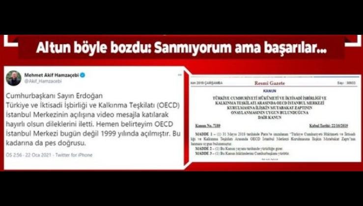 İletişim Başkanı Fahrettin Altun'dan CHP'li Mehmet Akif Hamzaçebi'ye Resmi Gazete'li 'OECD' cevabı!