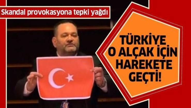 Türk bayrağını yırtan alçak Yunan vekille ilgili flaş gelişme! Başsavcılık harekete geçti.