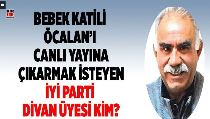 Bebek katili Öcalan'ı canlı yayına çıkarmak isteyen İYİ Parti Divan üyesi kim?
