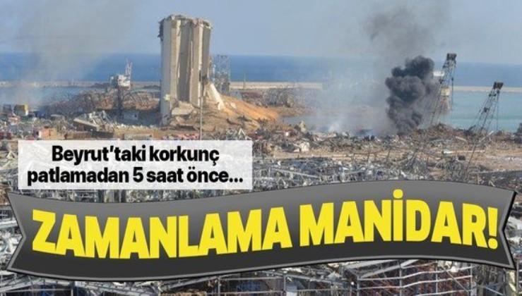 Beyrut Limanı'ndaki patlamanın zamanlaması manidar! 5 saat önce Netanyahu'dan Arapça tweet...