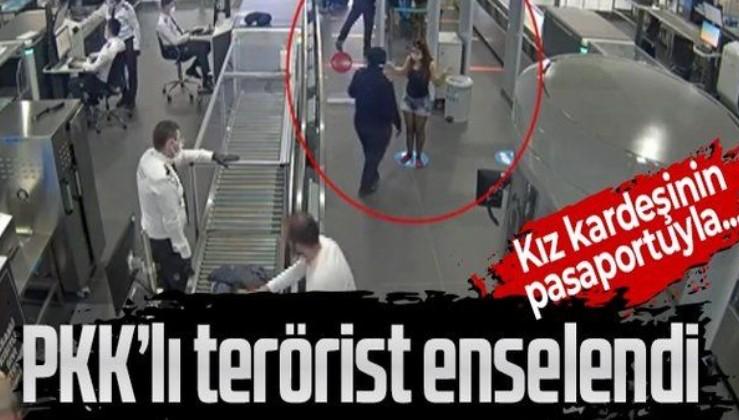 PKK'lı terörist kız kardeşine ait pasaportla kaçmaya çalışırken İstanbul Havalimanı'nda yakalandı!