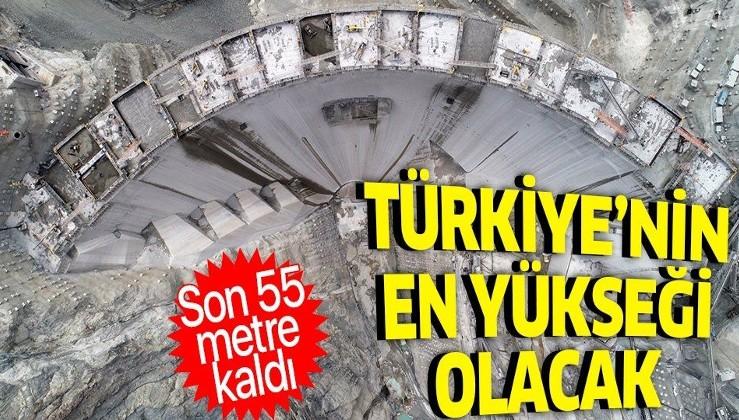 Türkiye'nin en yüksek barajı olacak Yusufeli Barajı'nın yapımında 220 metreye ulaşıldı