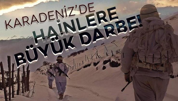 SON DAKİKA: PKK'nın kış üslenmesine Karadeniz'de operasyon