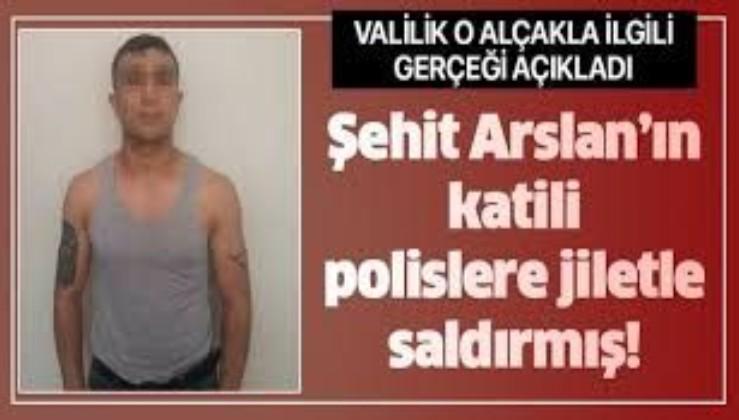 Son dakika: Polis memuru Atakan Arslan'ı şehit eden zanlıdan polislere jiletli saldırı! Valilikten açıklama geldi