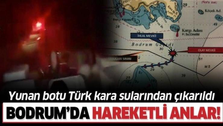 Son dakika: Yunan sahil güvenlik botu, Türk kara sularından çıkarıldı.