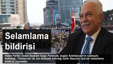 Doğu Perinçek'in Azerbaycan zaferini selamlama bildirisi