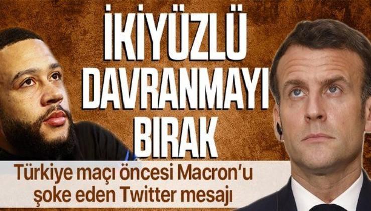 Türkiye maçı öncesi Emmanuel Macron'a mesaj! Bizim de gitmemiz adil olur