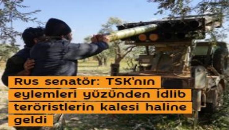 Rus senatör: TSK'nın eylemleri yüzünden İdlib teröristlerin kalesi haline geldi