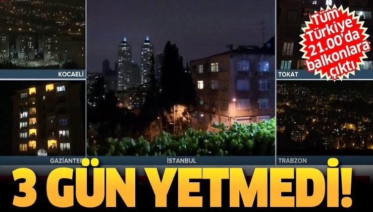 Sağlık çalışanlarına 'koronavirüs' desteği 4. gününde: Tüm Türkiye alkış tuttu