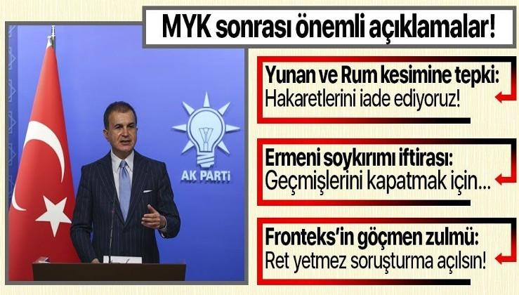 Son dakika: AK Parti Sözcüsü Ömer Çelik'ten MYK sonrası önemli açıklamalar