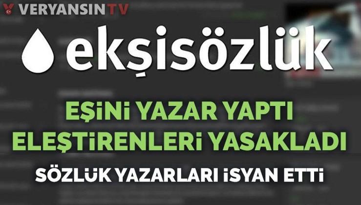 Ekşi Sözlük'te skandal: Eşini yazar yaptı ifşa edenleri sözlükten attı