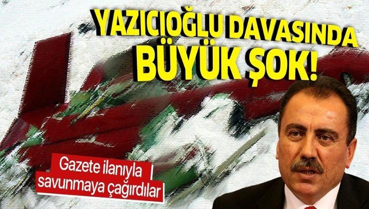 Muhsin Yazıcıoğlu davasında flaş gelişme! FETÖ'cü hakim Mahmut Mavi gazete ilanıyla savunmaya çağrıldı!.