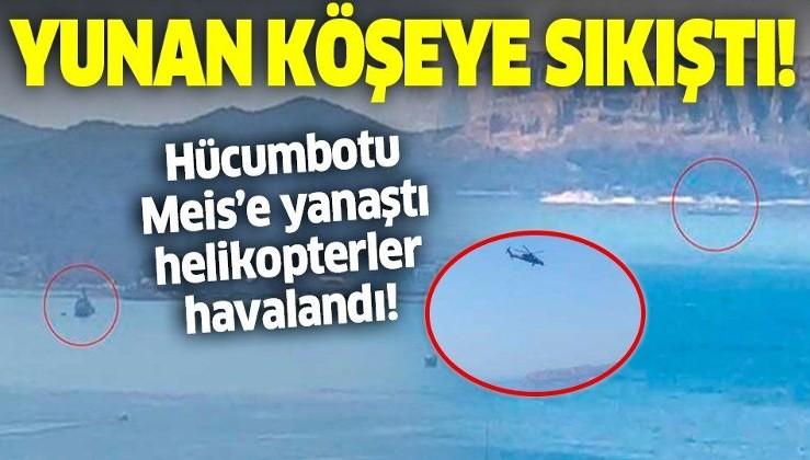 Son dakika: Akdeniz'de sıcak görüntü: Türk hücumbotu Kaş'a, Yunan hücumbotu Meis Adası'na yanaştı