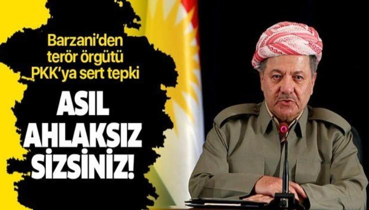 Barzani'den PKK'ya sert tepki: Asıl ahlaksız sizlersiniz