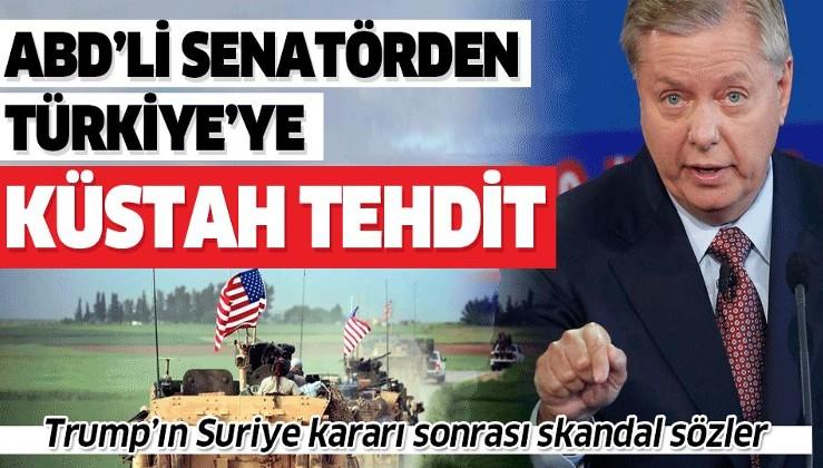ABD'li Senatör Lindsey Graham'dan küstah tehdit: Türkiye'ye yaptırım uygulanması için elimden geleni yapacağım